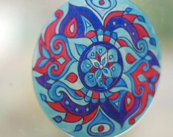 Blue Otter Geometric Mandala Suncatcher - Bohemian Home Decor
