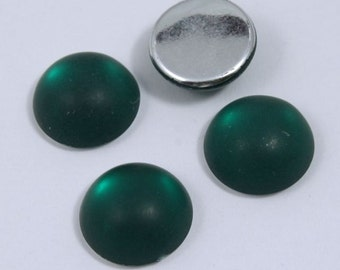 18mm Round Frosted Emerald Cabochon #UP703