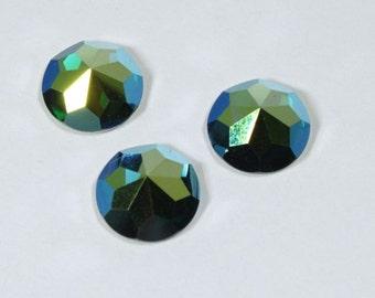 Vintage Swarovski. Article 2020. 10mm Emerald AB #976