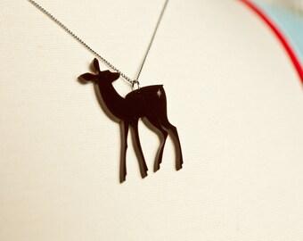 Deer Lasercut Acrylic Necklace