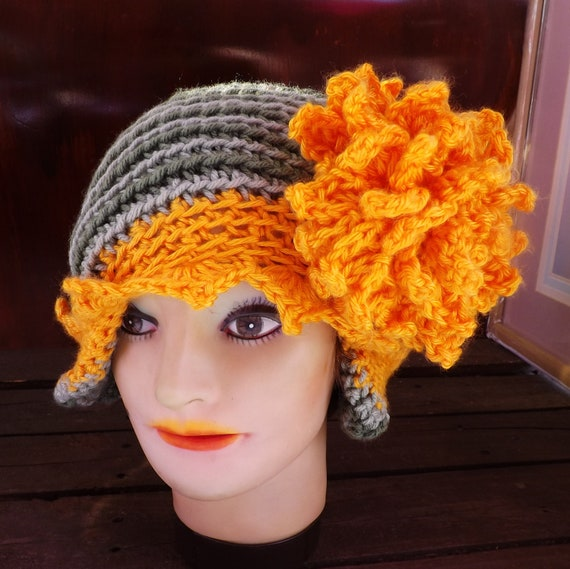 Crochet Womens Hat With Ear Flaps Pattern : Crochet Hat Women Hat YVETTE Ear Flap by strawberrycouture