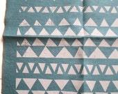 100% Linen Napkins- Hand Printed Cloth, Triangle Mountains