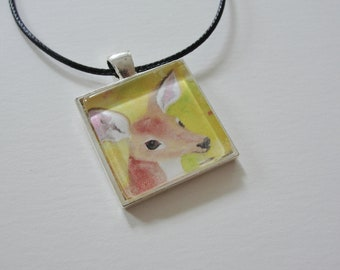 Deer Necklace, Little Fawn Pendant, Deer Jewelry Sale, Nature Jewelry Gift for Girls and Women
