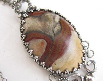 Trax Jasper and Sterling SIlver Necklace