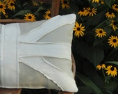 British Union Jack Neutral Oatmeal Throw Pillow