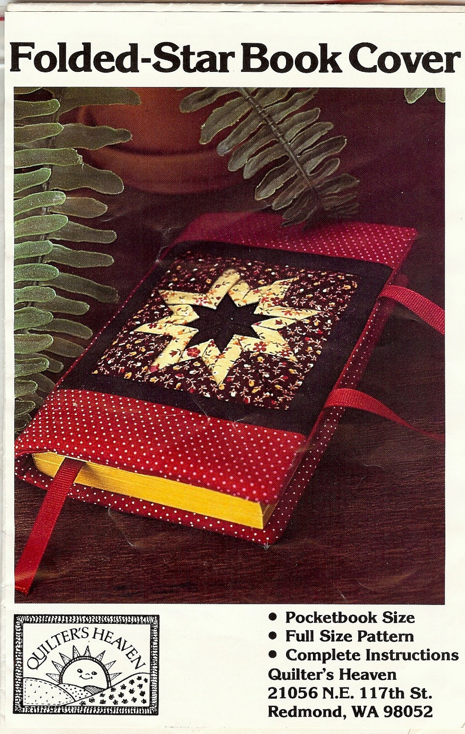 Fabric Book Covers Pattern : Folded star fabric book cover pattern