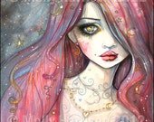 Worry - Gothic Girl Archival Giclee Print Fantasy Art  8 x 10