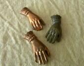 Vintage copper hands