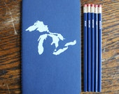 Great Lakes Writing Set (silkscreened notebook and pencils)