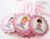 Personalized Princess Tags T056 -- Set of 24