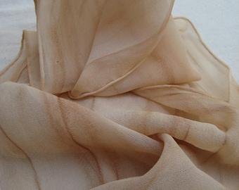 """Persimmon/""""Kaki"""" on Silk"""