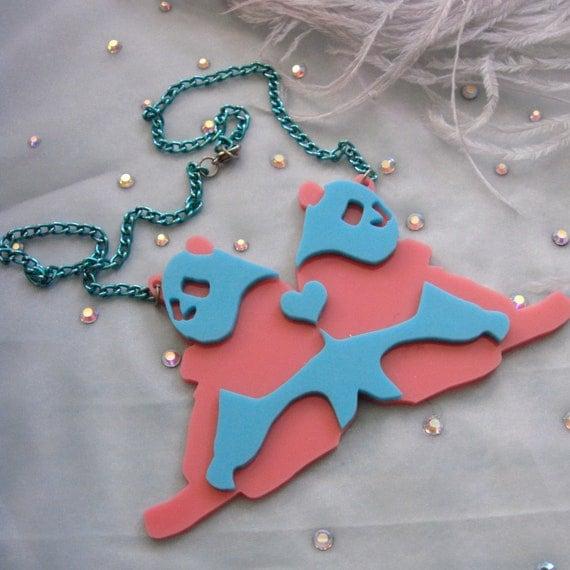 Ultraluxe Acrylic PANDAS Necklace