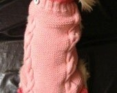 MADE TO MEASURE -  laces dog pet  hand knitted sweater