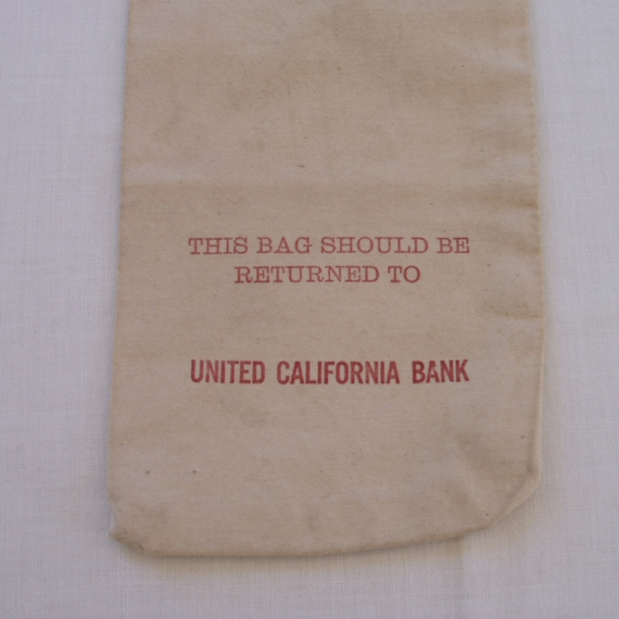 Vintage Cloth Bank Bag from United California Bank