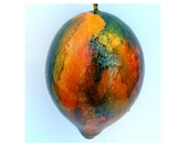Green Fire Ornament - gourd & wire holiday home decor christmas decoration present colorful