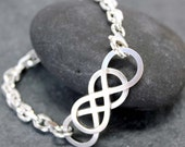 DOUBLE INFINITY Chain Bracelet, for men, Heavy, 6mm, Chain,  Thick, Manly