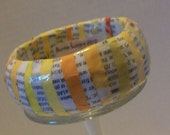 Recycled Paper Mache Bangle Yellow