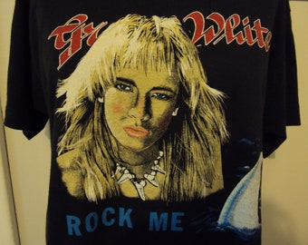 Vintage 80s Great White Rock Concert T shirt