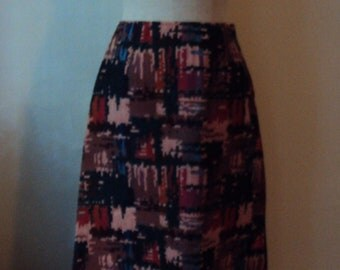 Vintage 70s Aztec Tapestry Maxi Skirt