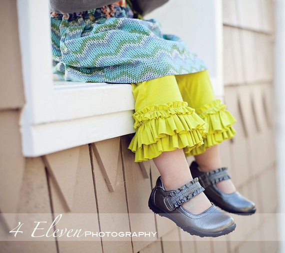"""PDF """"Rings-of-Ruffles"""" PANTS now in 2 lengths Sewing E-Pattern and Detailed Tutorial...sizes 6months-10 years"""