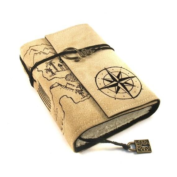 Leather Journal Handmade Treasure Map