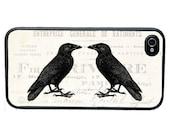 Vintage Raven Phone Case for  iPhone 4 4s 5 5s 5c SE 6 6s 7  6 6s 7 Plus Galaxy s4 s5 s6 s7 Edge