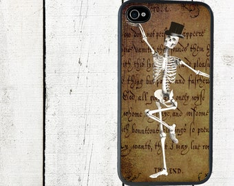 Dancing Skeleton Phone Case for  iPhone 4 4s 5 5s 5c SE 6 6s 7  6 6s 7 Plus Galaxy s4 s5 s6 s7 Edge