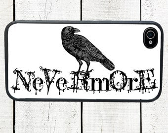 Raven Nevermore Phone Case for  iPhone 4 4s 5 5s 5c SE 6 6s 7  6 6s 7 Plus Galaxy s4 s5 s6 s7 Edge