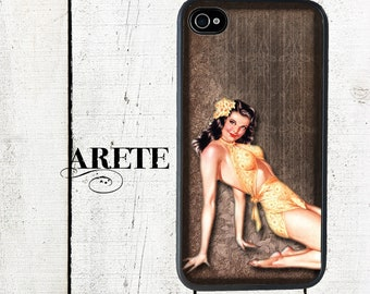 Retro Pinup Phone Case for  iPhone 4 4s 5 5s 5c SE 6 6s 7  6 6s 7 Plus Galaxy s4 s5 s6 s7 Edge