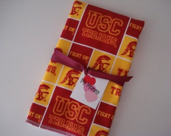 USC Trojans University of Southern California  Baby Boy or Girl Burp Cloth
