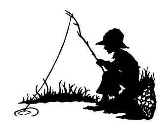 Boy Fishing Cross Stitch Pattern PDF