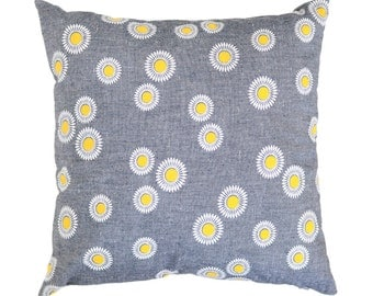 SALE | Throw Pillow - Vintage Chambray & Flowers