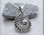 Nautilus Shell Necklace, Ocean Necklace, Beach Jewelry, Seashell Pendant, Sterling Silver, Sea Shell, Mothers Day Necklace, Graduation SN692