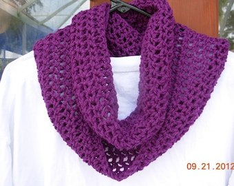 CLEARANCE-Infinity Eternity Cowl Crochet Scarf Orchid