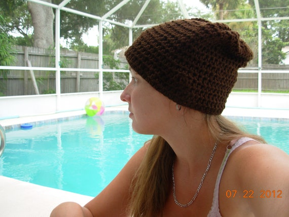 Slouchy Hat-Chocolate brown