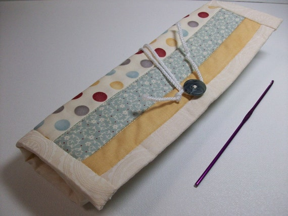 Quilted Crochet Needle Case Double Pointed by brenniequilts