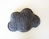 Crocheted cloud in very dark grey