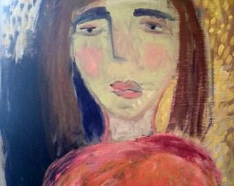 "Original painting, ""The Golden Light"""