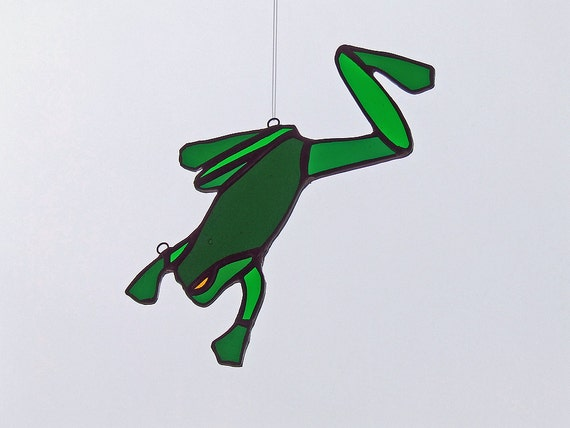 Stained Glass Frog for Mother's Day Gift - German Antique Glass