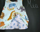 Reversible Swing Top - Michael Miller  - Circus - Pick the size Newborn up to 8 Years by Boutique Mia