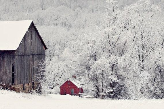 Items similar to Winter Snow Scene, Fine Art Print, Snow ...