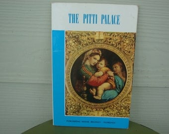 Vintage Book The Pitti Palace Florence Italy Souvenir Art Book