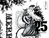 Price Reduced for Holidays! unmounted rubber stamp plate Christmas, Santa Clause quotes words tateam EUC team no.1431