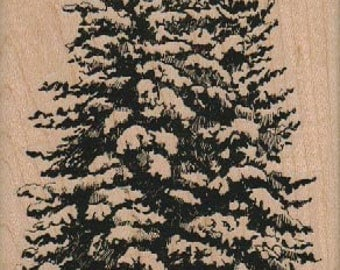 Price Reduced for Holidays! Christmas Rubber Stamp Tree Large cling stamp, unmounted or wood mounted stamp 18942