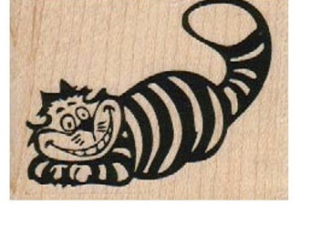 Alice in Wonderland Rubber stamp  Cat Cheshire    scrapbooking supplies number 5822
