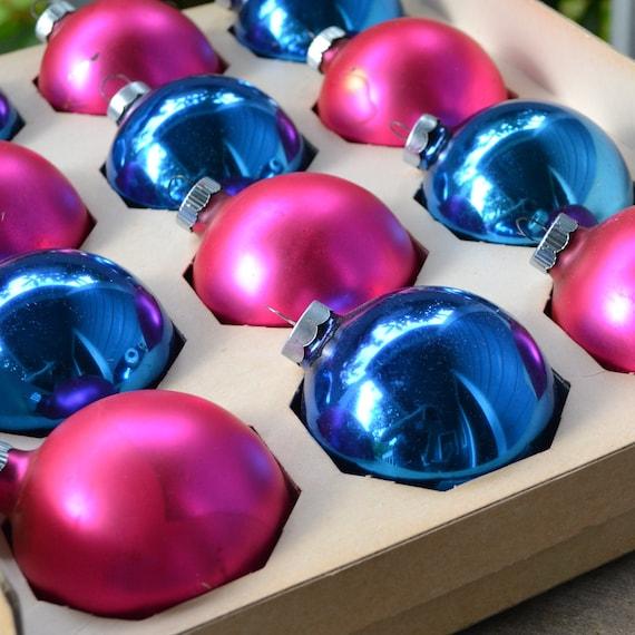 12 Shiny Brite Christmas ornaments in Original Box