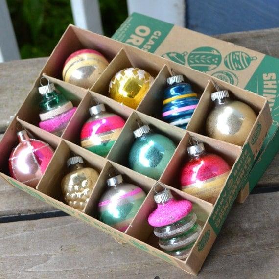 Shiny Brite Christmas ornaments in Original Box