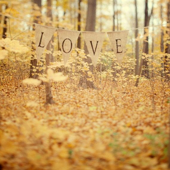 Autumn Forest, Fall Decor, Autumn Art, Wedding Gift, Fall Photography, Bedroom Decor, Romantic Art, Nature, Yellow Gold Wall Art 8x8