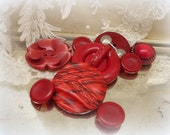 life is tOO shoRt for oRdinary buttons . shades of red celluloids and vegetable ivory