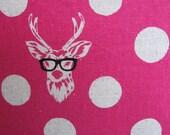 Echino Polka dot Buck with Glasses Print Pillowcase